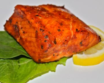 marinated salmon filets