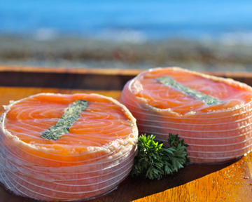 fresh salmon medallions stuffed