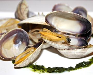 fresh west coast clams